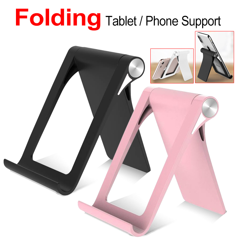 Universal Black Mini Folding Plastic Cell Phone Mini Stand Holder Cradle for Xiaomi IPhone 8 Plus SE Oppo Huawei P8 Lite(China)