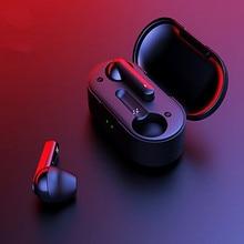 T3 TWS Fingerprint Touch Wireless Headphones Bluetooth V5.0 3D Stereo Dual-Mic Noise Cancelling Earphones
