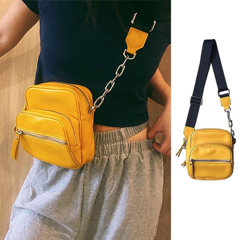 Casual Crossbody Chest Bags For Women 2020 Waist Bag Pu Leather Fanny Packs Female Travel Phone Bags Girl Messenger Zipper Pack