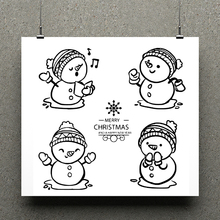 AZSG Cute snowman Clear Stamps/seal for DIY Scrapbooking/Card Making/Photo Album Decoration Supplies