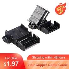 Guia de máquina de cortar cabelo, pente de plástico para remoção de pontas de cabelo, ferramenta à prova dágua para salão de beleza