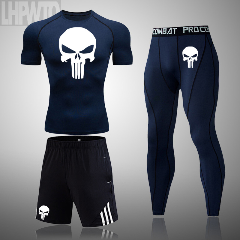 Punisher The Skull Printed Body Fit T-Shirt TShirt Gym MMA Bodybuilding S-XXL