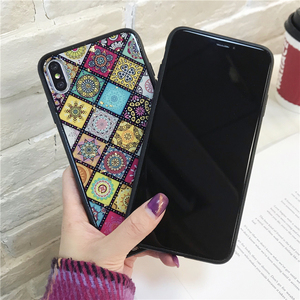 Image 2 - Phone Case For iPhone 6 6s 7 8 Plus Luxury Gold Foil Bling Vintage Flower Pattern Cases For iPhone Back Cover Coque X S MAX