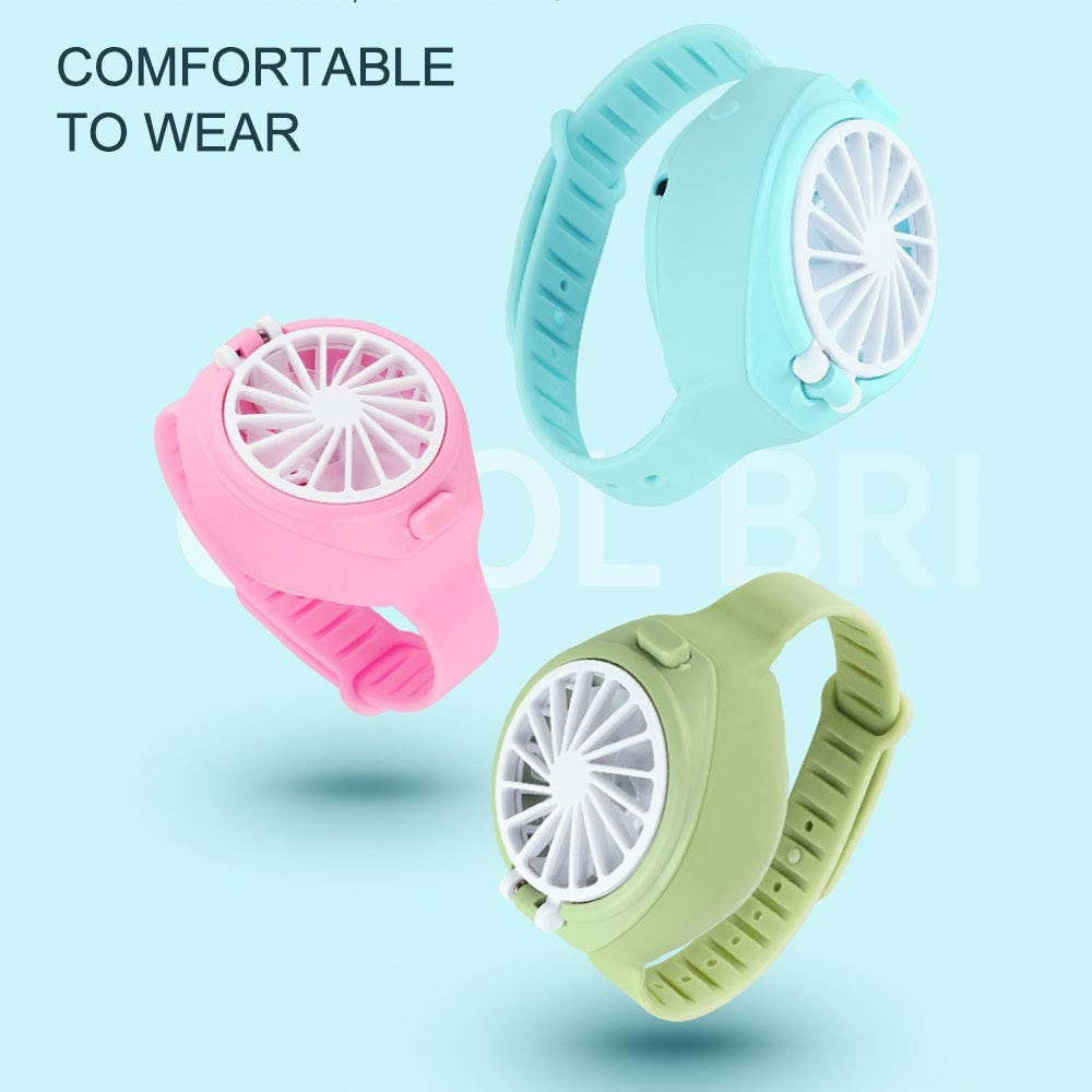 USB Charging Fan With Comfortable Wrist Strap, Portable Mini Fan, Watch-shaped Fan Control, Convenient For Children And Adults