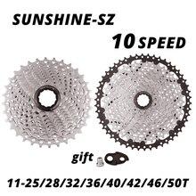 أشعة الشمس 10 سرعة كاسيت 10 S 10 فولت دراجة الطريق دراجة حرة دولاب الموازنة 10 S 25/28/32/36/40/42/46/50T ل deore m6000 SRAM