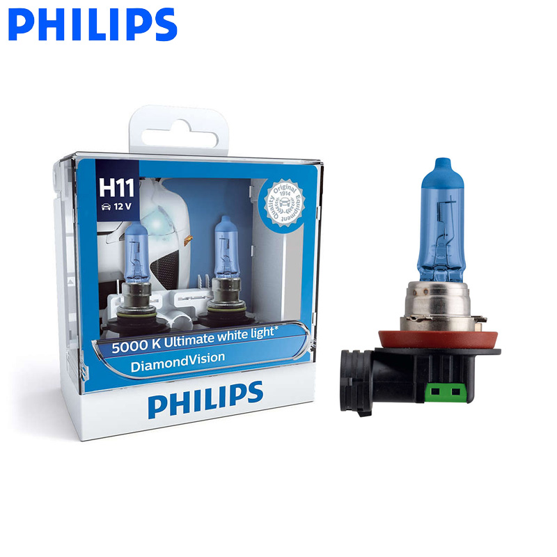 Philips Car-Headlight Fog-Lamp Halogen-Bulbs Diamond-Vision 5000K Super 55W 12V 12362DV