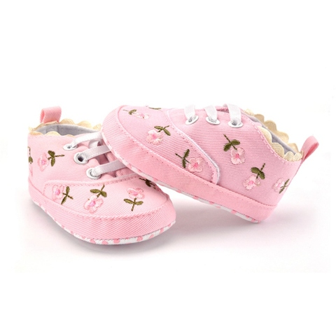 Baby Girl Shoes White Lace Floral Embroidered Soft Shoes Prewalker Walking Toddler Kids Shoes First Walker Multan