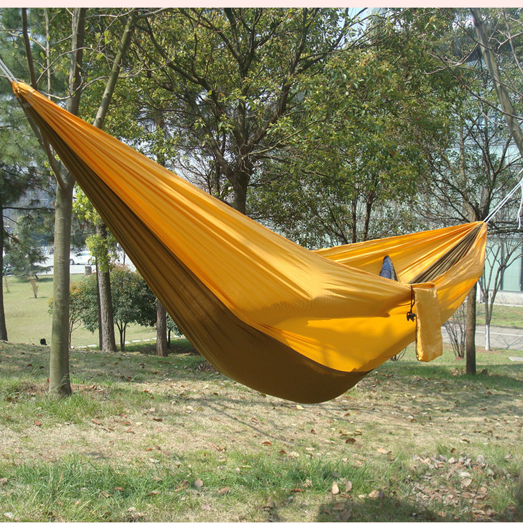 Manufacturers Direct Selling Multi-functional Outdoor Hammock Single Double Printed Hammock Camping Supplies Parachute Cloth Ham