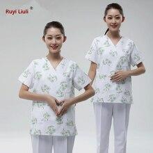 4XL White Nursing Uniform Plus Size Medical Clothing Gown Women Men Surgical Clothing Hospital Scrubs Set Medical Costumes-Ruyi hurst reviews medical surgical nursing review