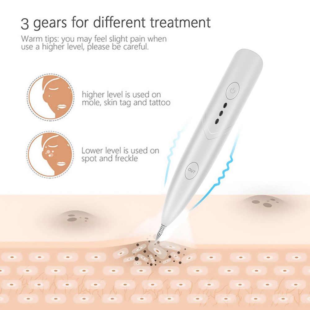 Bolígrafo de eliminación de tatuajes mancha removedor de instrumento de belleza máquina láser de eliminación de pecas Piel de Topo eliminación cara verruga etiqueta salón