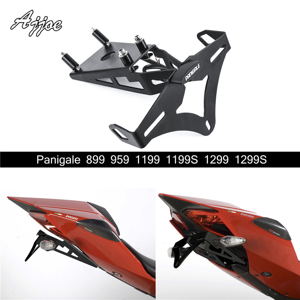 For Ducati Panigale 800 959 1199 1199S 1299 1299S Motorcycle License Plate Holder License Bracket Tail Tidy Fender Eliminator