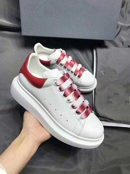 Women & Men Genuine Leather Platform Brand Sneakers Casual Running Sports Tennis Shoes Skateboard Walking Shoes