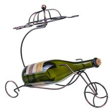 Nordicstyle Retro Simple Tricycle Metal Wine Rack Hanging Wine Glass Holder Bar Stand Bracket Display Stand Bracket Decor