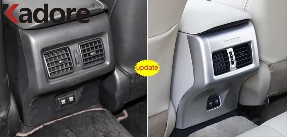 Bishop Tate for Toyota Venza 2021 Black Center Console Air Conditioner Outlet Vent Strip Decoration Trim ABS Car Accessories 1PC