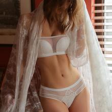 Munllure Sexy lace tubo superior sem jantes reunidos conjunto de sutiã roupa interior das mulheres sutiã sem alças vestido de noiva
