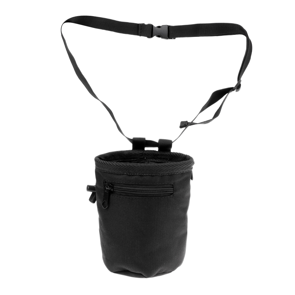 10.5 x 15cm Cylindrical Waterproof Climber Rock Climbing Chalk Bag with Belt