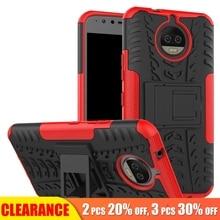 [Clearance] For Motorola Moto C E4 E5 G5 G6 Plus Luxury Armor Hard Stand Hold Case For Moto Z2 Play Z Force 360 Full Cover Case goowiiz серебряный moto z force