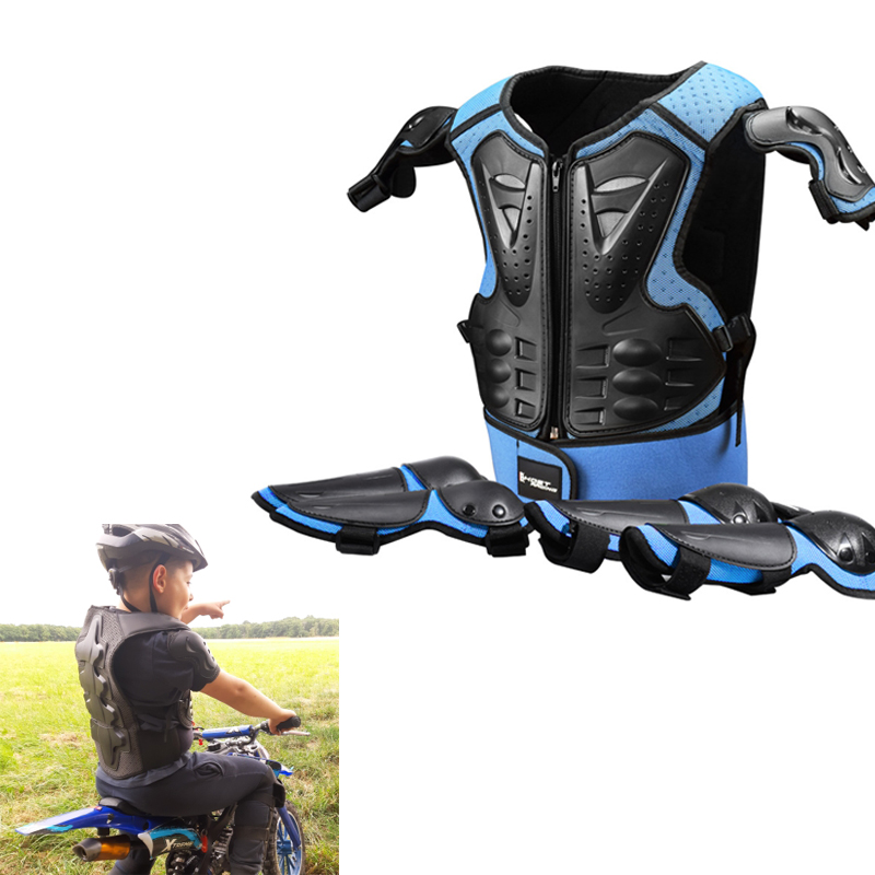 Children Full Body Protector Blue Vest Armor Red Kids Riding Jacket Anti Falling Protection Gear Elbow Knee Suit Brandoo