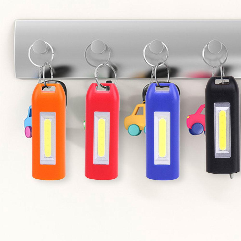 COB Work Light USB Charging Retractable 3 Bulb Models Keychain Light Pocket Lamp