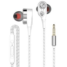 3.5mm Wired Dynamic Driver Balanced Stereo Earbuds Dual Drivers In-Ear Earphones