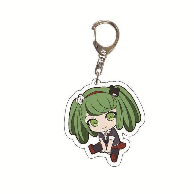 Danganronpa Double Sided Acrylic Keychain Fans Collection Anime Game Figures Nanami ChiaKi Nagito Komaeda Key Chain Cute Trinket 4