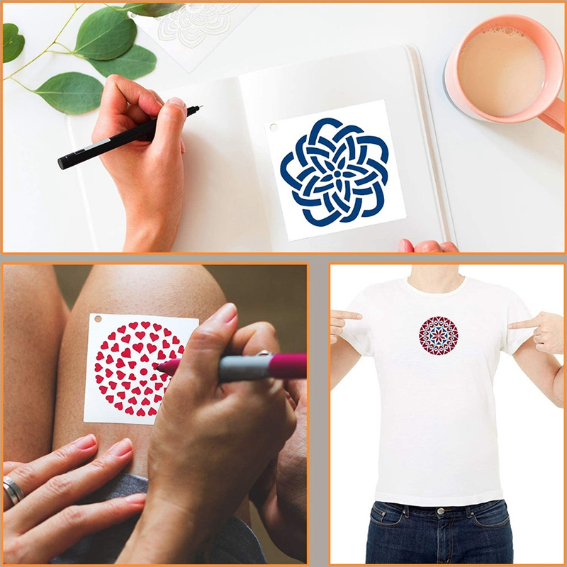 56 Pack Mandala Dot Painting Templates Stencils Perfect for DIY Rock Painting Art Projects 3.6X3.6 Inch
