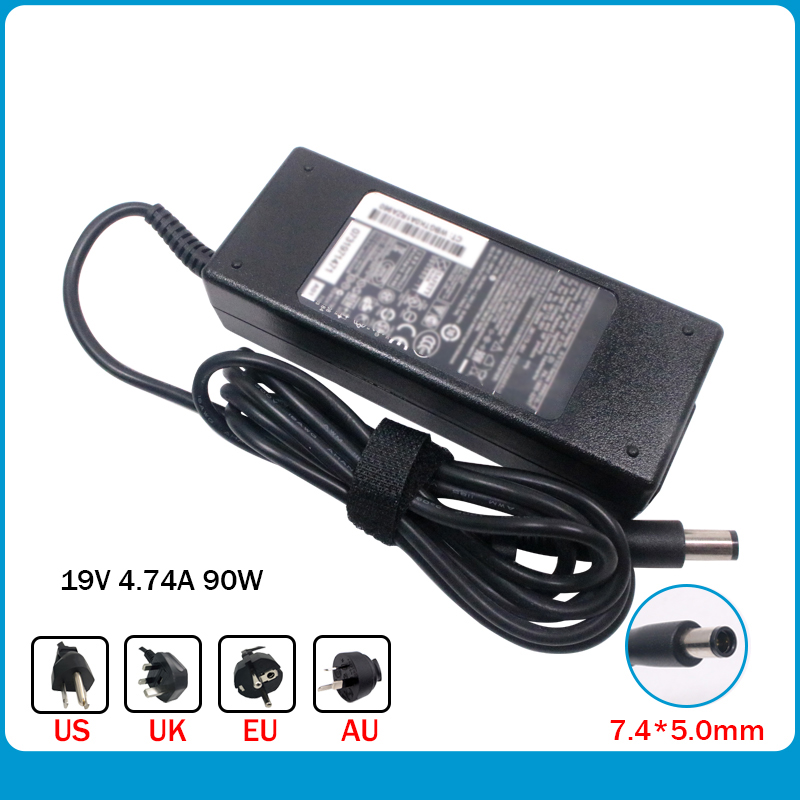 New Laptop Ac Power Adapter 90W For Hp Pavilion Dv3 Dv4 Dv5 G4 G6 G7 Notebook Laptop Charger 19V 4.74A 90W 7.4*5.0mm
