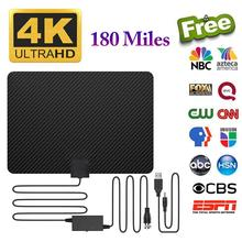 Newest High Quality 180 Miles TV Antenna Digital HD Indoor 4K Life Local Channels Amplifier Signal Booster