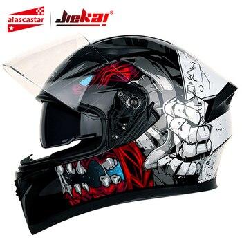 JIEKAI Motorcycle Helmet Full Face Casco Moto Washable Lining Double Visor Motocross Helmet Motorbike Capacete Moto Helmets # цена 2017