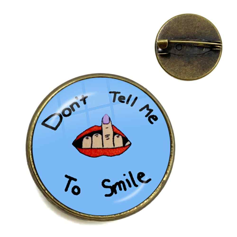 Do Not Smile At Me Collar Pins Billie Eilish BAD GUY Popular Hip-Hop Singer Trendy Brooches For Women Men Fans Gift