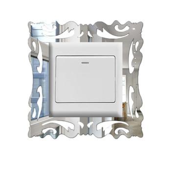 Diy dom podkładka pod przełącznik kwadratowe naklejki ścienne pod włączniki twórcze lustro akrylowe naklejka pod włącznik gniazdo naklejka dekoracyjna ozdoby na włącznik tanie i dobre opinie CN (pochodzenie) Płaska naklejka ścienna Nowoczesne For Wall Naklejki na meble Naklejki na przełączniki Jednoczęściowy pakiet