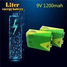 Bateria de lítio recarregável, 1/2/4 peças 9 v 1200 mah para interfone, alarme de fumaça, carro, brinquedos 9 v nimh as baterias substituem
