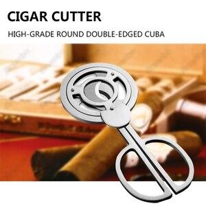 Triple Blades Stainless Steel Tone Cigar Cutter Pocket Gadgets Cutter Knife Cuban Cigars Scissors
