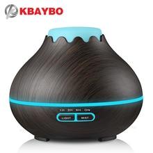KBAYBO 400ml olejek eteryczny do nawilżacza powietrza dyfuzor Aroma LED lampa elektryczny dyfuzor do zapachów Mist Maker dla domu drewna