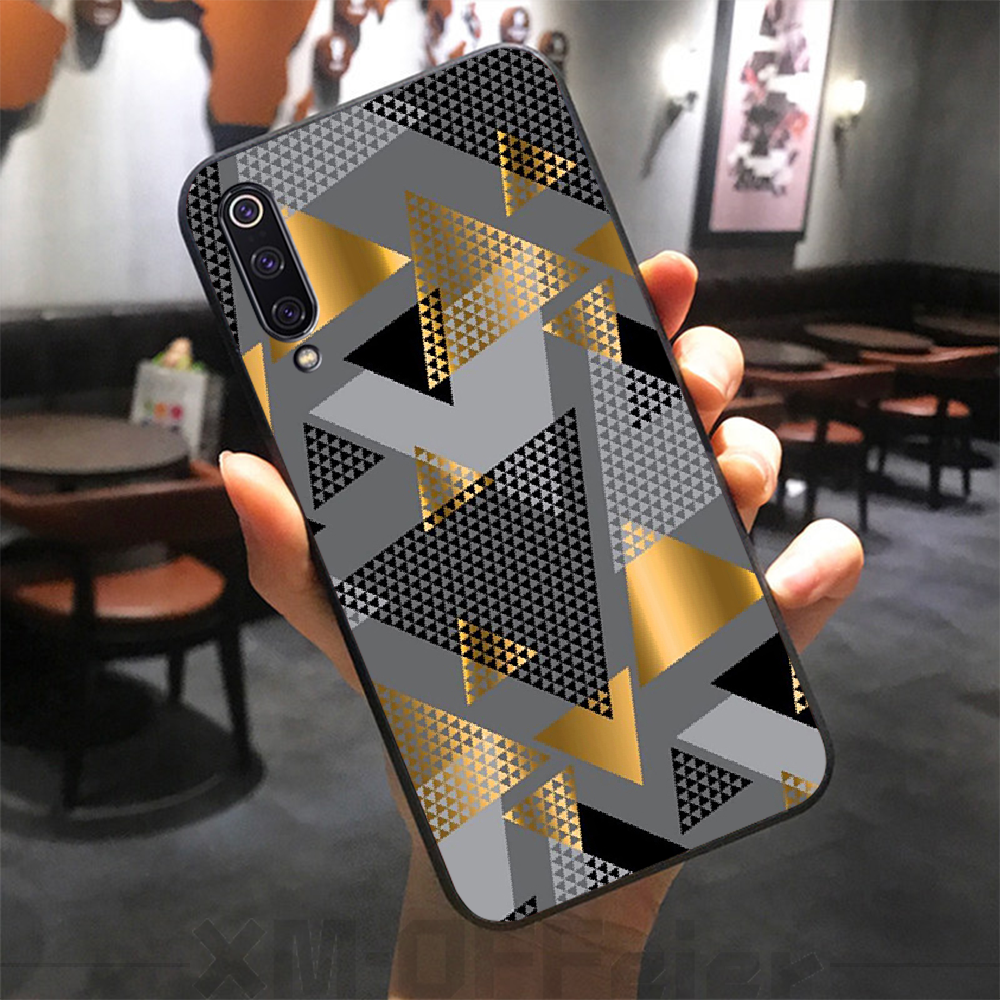 ByLoving Metal abstraction TPU black Phone Case Cover Hull for xiaomi mi 8 9 8SE 9SE 8Lite mix2 2S max2 3 Pocophone F1