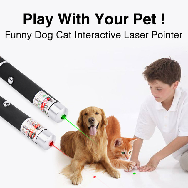 5MW LED Laser Pet Cat Toy Red Dot Light Sight 530Nm 405Nm 650Nm Interactive Pen Pointer- 3