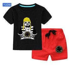 Summer Baby Children Suits Kurt Nirvana T-shirt Todder Boys Girls Kids Clothes Sets Children Clothing 2PCS Funny T Shirt Hip Hop underwear lucky child for girls 23 25 3m 18m shirt underpants baby clothing children clothes t shirt