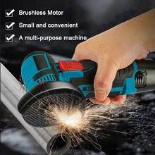 Brushless 12V Mini Angle Grinder Machine 500W Cordless Polishing Angle Grinding Machine with Two Batteries Tool Grinder Machine