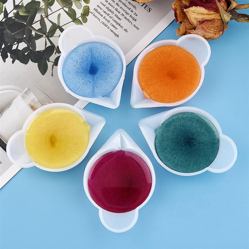 5pcs/Lot 10ml Dispenser Silicone Mold Cup Diy Epoxy Resin For Jewelry Making Tool Color Modulation Diy Mold Accessory