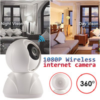 IR Night Vision Indoor Home 2.4GHz Wi Fi Webcam Camcorder for Home / Store Security Wireless 1080P HD PTZ Security IP Camera