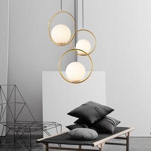Image 3 - Candelabro nórdico de estilo minimalista, bola de cristal colgante para arañas LED, sala de estar, dormitorio, restaurante, Bar, iluminación del hogar
