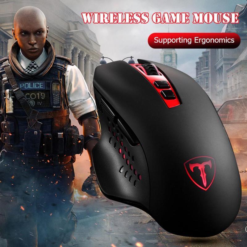ET X-11 2.4G Mouse USB Optical Mice 4800DPI Adjustable Wireless Laser For Gamers Adjustable DPI Level 800/1200/1600/2000/4800