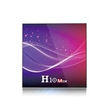 O núcleo superior esperto do quadrilátero da caixa h616 da tevê de h10 max 10.0 ajustou o bocado 4 gb ram 32 gb/64 gb rom 2.4g wifi 6 k hdr 4 k