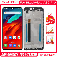100% original 6.49 polegada para blackview a80 pro android 9.0/10.0 lcd & digitador da tela de toque com módulo exibição quadro