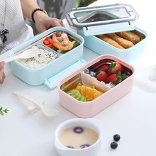 Zazayu Bento Box 304 Stainless Steel Lunch Box For Kids  School students workers Food Container With Tableware Set new japanese kids lunch box 304 stainless steel bento lunch box with compartment tableware microwave food container box 2020