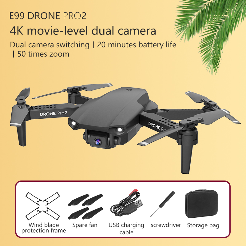 E99 RC Drone  Precision Fixed Point 4K HD Camera Professional Aerial Photography Helicopter Foldable Quadcopter 3