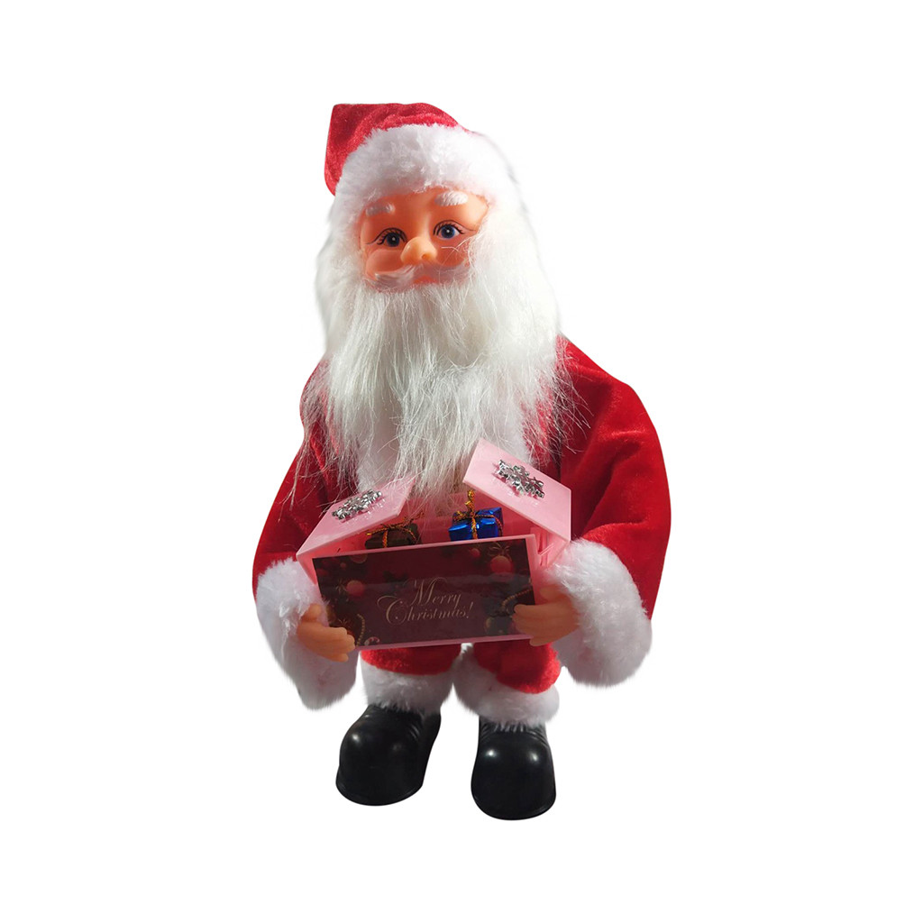 New Gags & Practical Jokes Electric Musical Santa Claus Plush Toy Christmas Doll Singing Dancing Music Box Novelty & Gag Toys