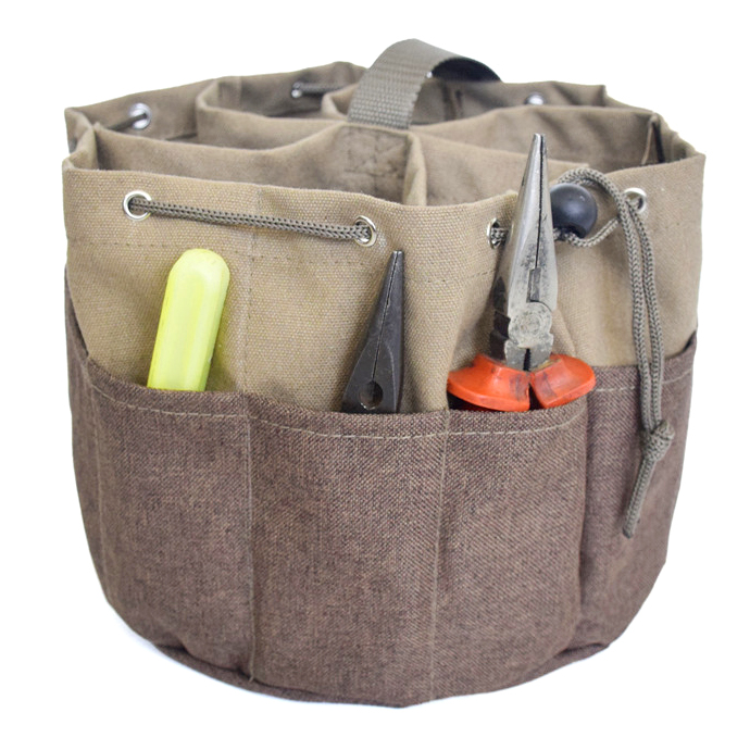 Multi-Function Canvas Parachute Bag Worker Tools Bag Small Parts Bag Electrical Screwdriver Pliers Tools Portable Storage Bag