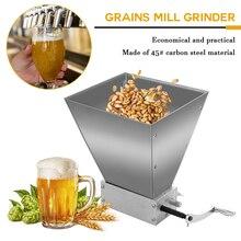 Molino grano Grinder trituradora mortero y caballete Molino de grano entero Grinder 2 roller cebada Malt máquina de polvo Malt maíz, molinillo de comida