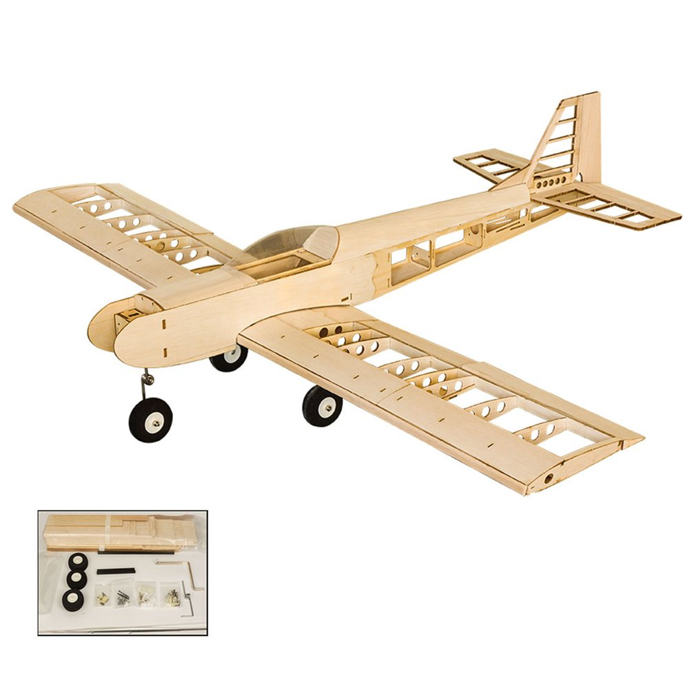 EP GP Balsa Wood Training Plane 1.4M Wingspan Biplane RC Airplane Aircraft Woodiness Model Toys DIY KIT/PNP for Kid image